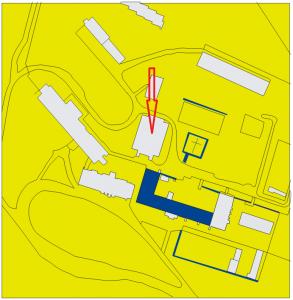 1 Vyznačenie lokality záchranného výskumu v roku 2008 (M. Samuel)