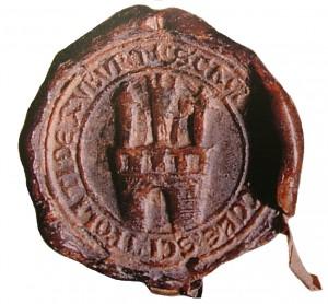 1 Zobor pečať Kláštora sv. Hypolita zo 14. storočia