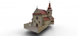 7 3D model Kostola sv. Jozefa