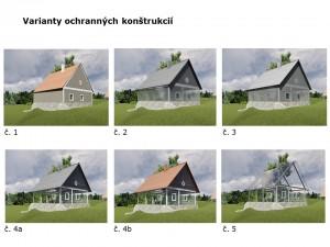 Obr. 7. Varianty ochrannej konštrukcie